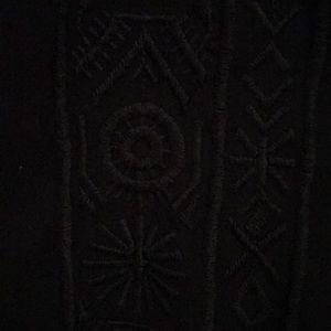 Knox Rose Dresses - Black tribal print dress